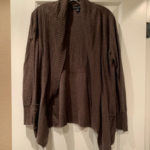 Brown open front cardigan from Banana Republic